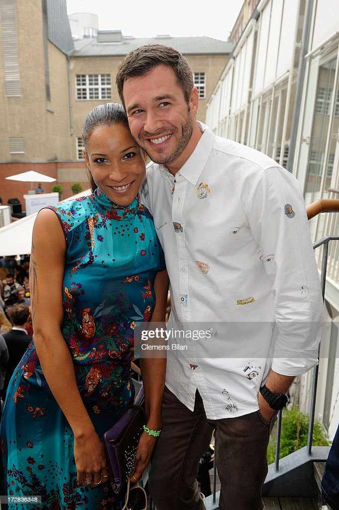 Annabelle Mandeng and Jochen Schropp attend the Gala Fashion Brunch at Ellington Hotel on July 5, 2013 in Berlin, Germany.
