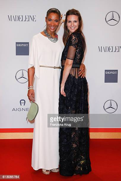 Annabelle Mandeng and Katrin Wrobel attend the Tribute To Bambi at Station on October 6 2016 in Berlin Germany