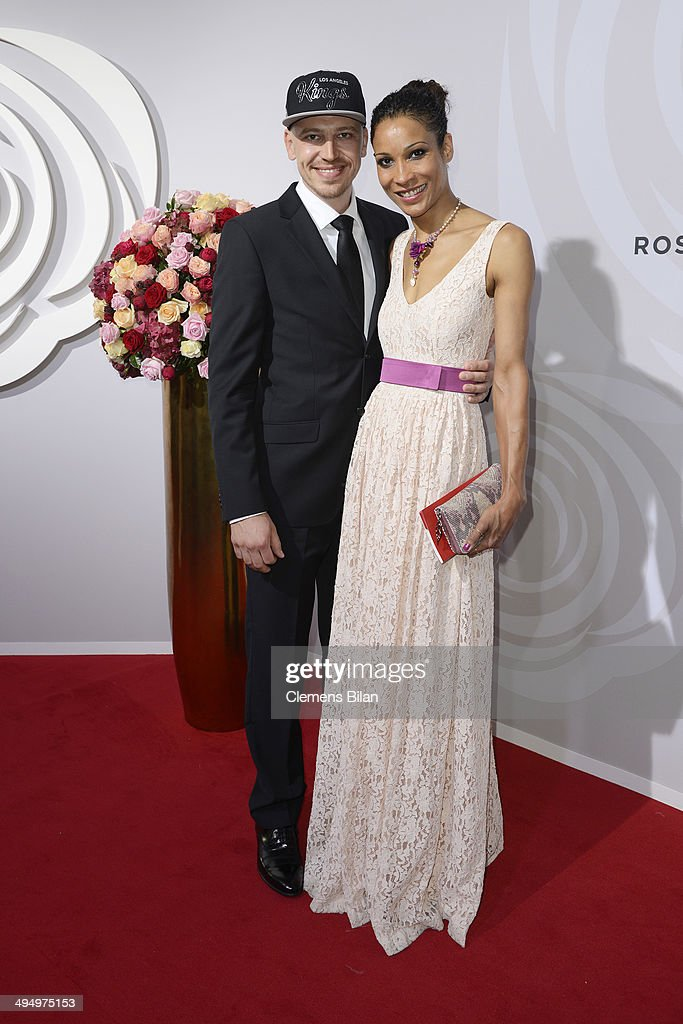 Annabelle Mandeng (R) and Matthias Pieper attend the Rosenball 2014 on May 31, 2014 in Berlin, Germany.