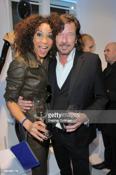 Annabelle Mandeng and Tom Lemke attend the opening of Porsche Design Store in Muenzstrasse 14 on November 15 2012 in Berlin Germany
