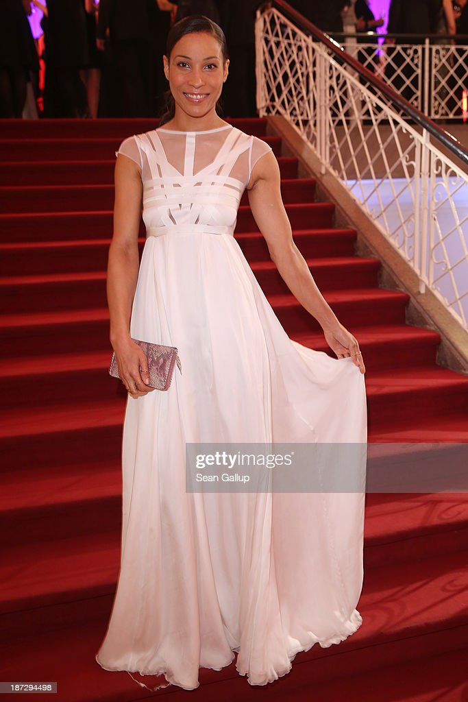 Annabelle Mandeng arrives at the GQ Men of the Year Award at Komische Oper on November 7, 2013 in Berlin, Germany.