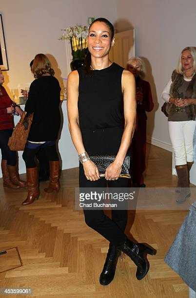 Annabelle Mandeng attends a photo exhibition of Tom Lemke at the Center of Aesthetics on December 4 2013 in Berlin Germany