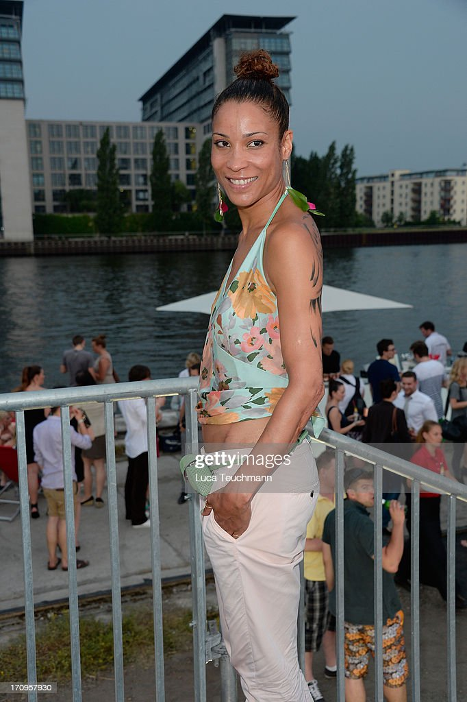 Annabelle Mandeng attends the ' Audi Urban Cinema ' on June 20, 2013 in Berlin, Germany.