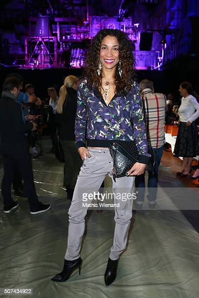 Annabelle Mandeng attends the Breuninger show during Platform Fashion January 2016 at Areal Boehler on January 29 2016 in Duesseldorf Germany