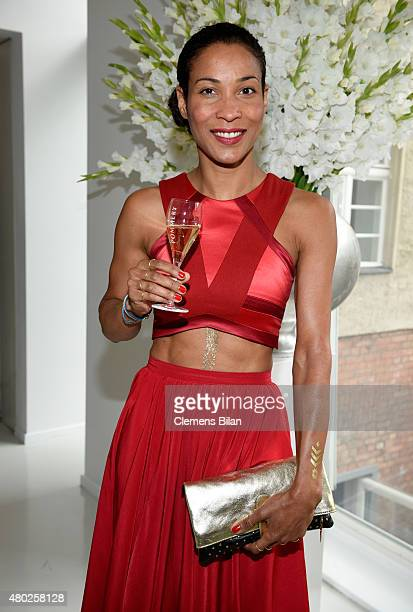 Annabelle Mandeng attends the GALA Fashion Brunch Summer 2015 at Ellington Hotel on July 10 2015 in Berlin Germany