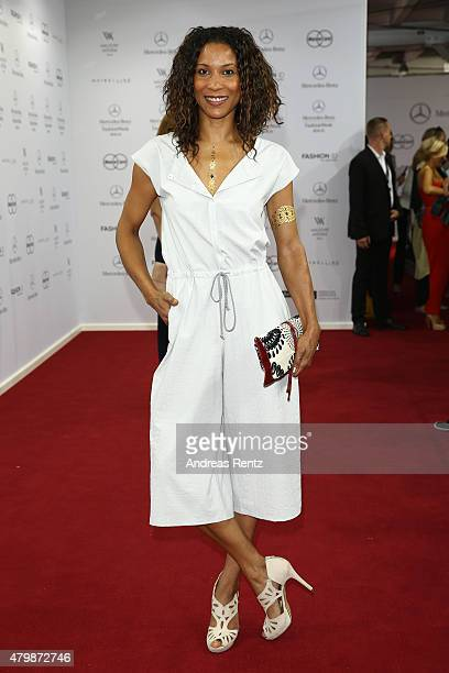 Annabelle Mandeng attends the Minx by Eva Lutz show during the MercedesBenz Fashion Week Berlin Spring/Summer 2016 at Brandenburg Gate on July 8 2015...