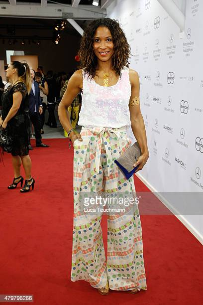 Annabelle Mandeng attends the Riani show during the MercedesBenz Fashion Week Berlin Spring/Summer 2016 at Brandenburg Gate on July 7 2015 in Berlin...
