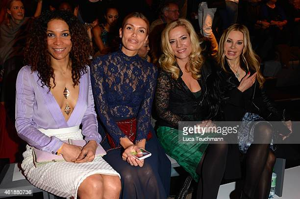Annabelle Mandeng Jacky Hide Jessica Stockmann and Xenia Seeberg attends the Glaw show during the MercedesBenz Fashion Week Berlin Autumn/Winter...