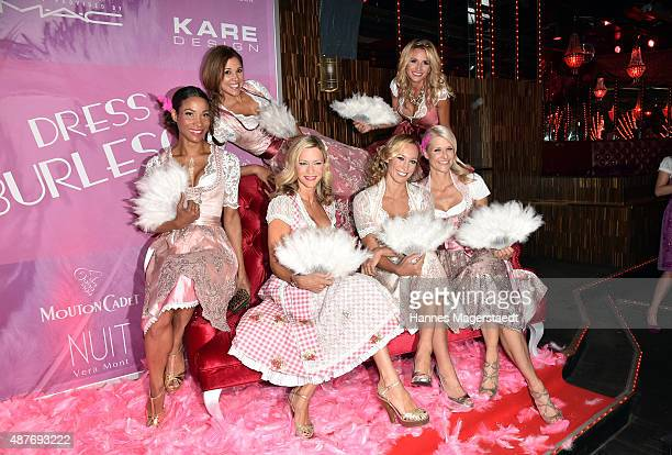 Annabelle Mandeng Karen Webb Verena Klein Sandra Abt Christine Theiss and Natascha Gruen during the dress burlesque party by Dresscodedcom at...