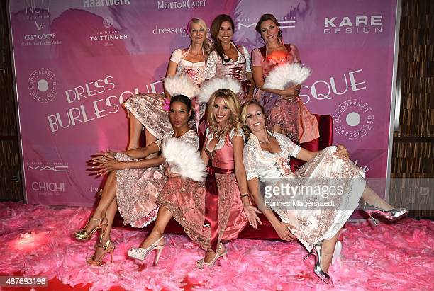 Annabelle Mandeng Natascha Gruen Karen Webb Sandra Abt Christine Theiss and Simone Ballack during the dress burlesque party by Dresscodedcom at...