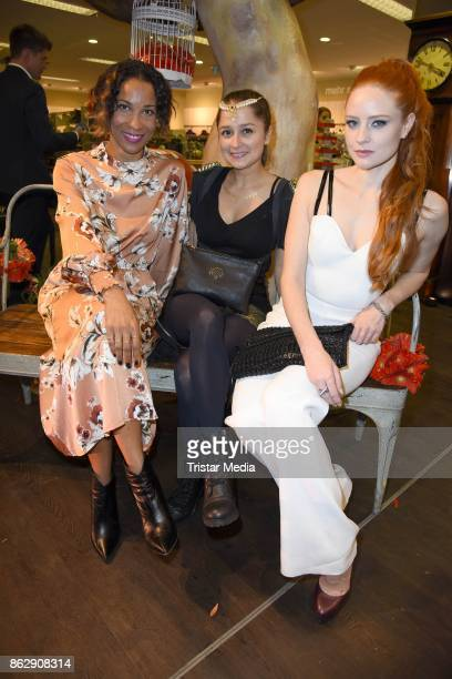 Annabelle Mandeng Sarah Alles and Barbara Meier attend the TK Maxx 10th anniversary celebration on October 18 2017 in Berlin Germany