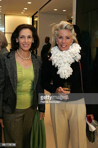 Annabelle Mariaca and Cece Black attend The Camellia Luncheon Sponsored by Chanel to benefit The New York Botanical Garden at Chanel on October 25...
