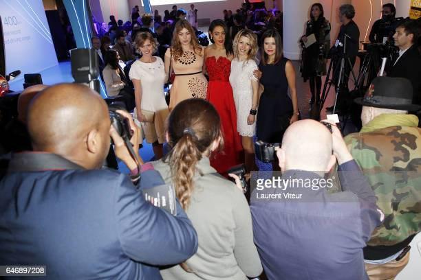 Annabelle Millot Heloise Martin Josephine Jobert Tristane Banon and Flavie Pean attends the Christophe Guillarme show as part of the Paris Fashion...