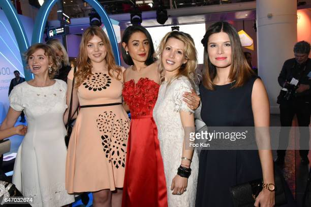 Annabelle Milot Heloise Martin Josephine Jober Tristane Banon and Flavie Pean attend the Christophe Guillarme show as part of the Paris Fashion Week...