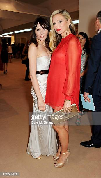 Annabelle Neilson and Caprice Bourret attend The Masterpiece Midsummer Party in aid of Marie Curie Cancer Care hosted by Heather Kerzner at The Royal...