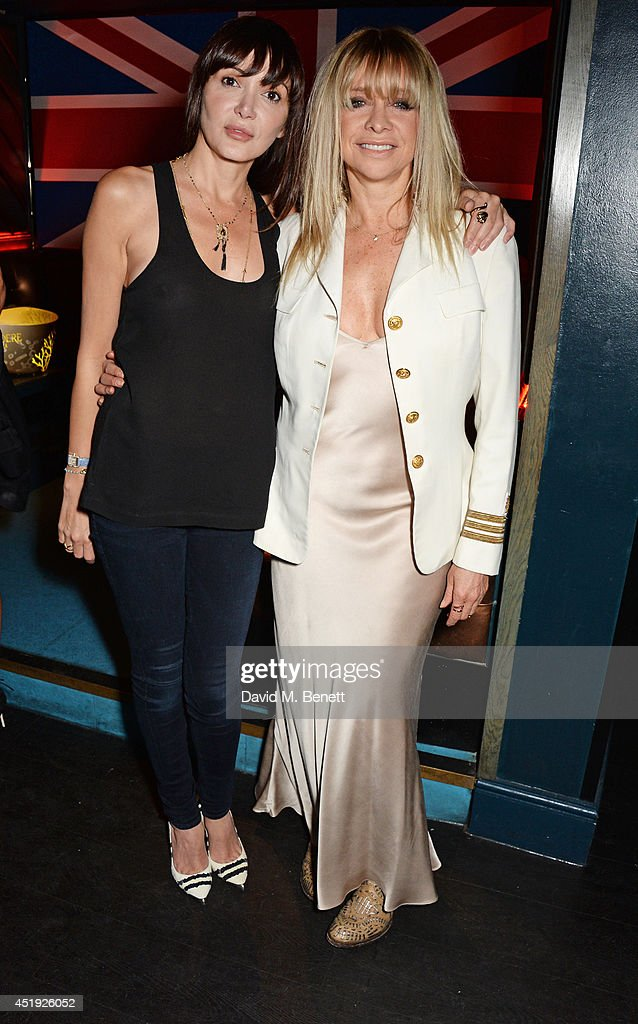Annabelle Neilson (L) and Jo Wood attend Jo Wood and Yasmin Mill's Summer Party at Boujis on July 9, 2014 in London, England.