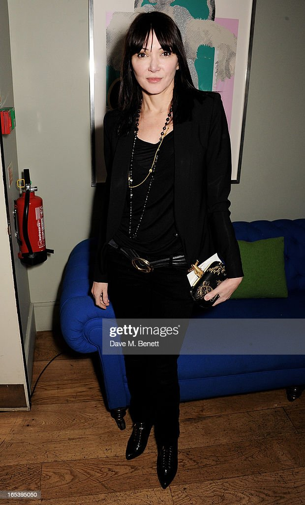 Annabelle Neilson attends event planner Paul Rowe's 40th birthday party at The Groucho Club on April 3, 2013 in London, England.