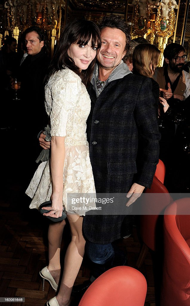 Annabelle Neilson (L) attends the AnOther Magazine and Dazed & Confused party with Belvedere Vodka at the Cafe Royal hotel on February 18, 2013 in London, England.