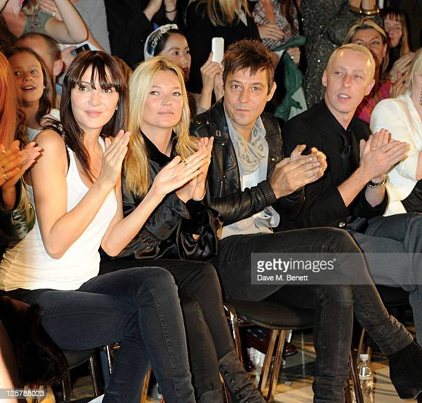 Annabelle Neilson Kate Moss Jamie Hince and James Brown attend the James Small Menswear Spring/Summer 2012 runway show during London Fashion Week at...