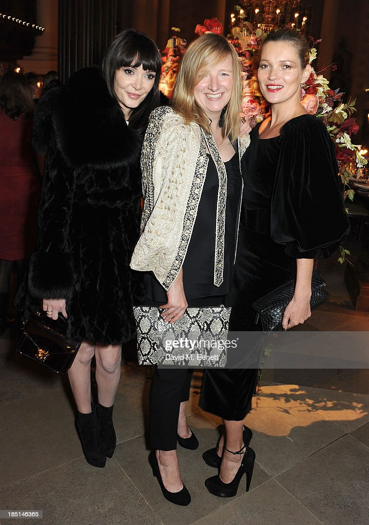 Annabelle Neilson, Sarah Burton and Kate Moss attend the Alexander McQueen and Frieze Dinner to celebrate the Frieze Art Fair 2013 on October 17, 2013 in London, England.