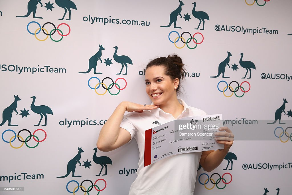 Annabelle Smith poses during the Australian Olympic Games diving team announcement at the Museum of Contemporary Art on June 29, 2016 in Sydney, Australia.