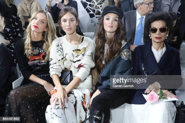 Annabelle Wallis Alexa Chung Charlotte Le Bon and Bianca Jagger attend the Christian Dior show as part of the Paris Fashion Week Womenswear...
