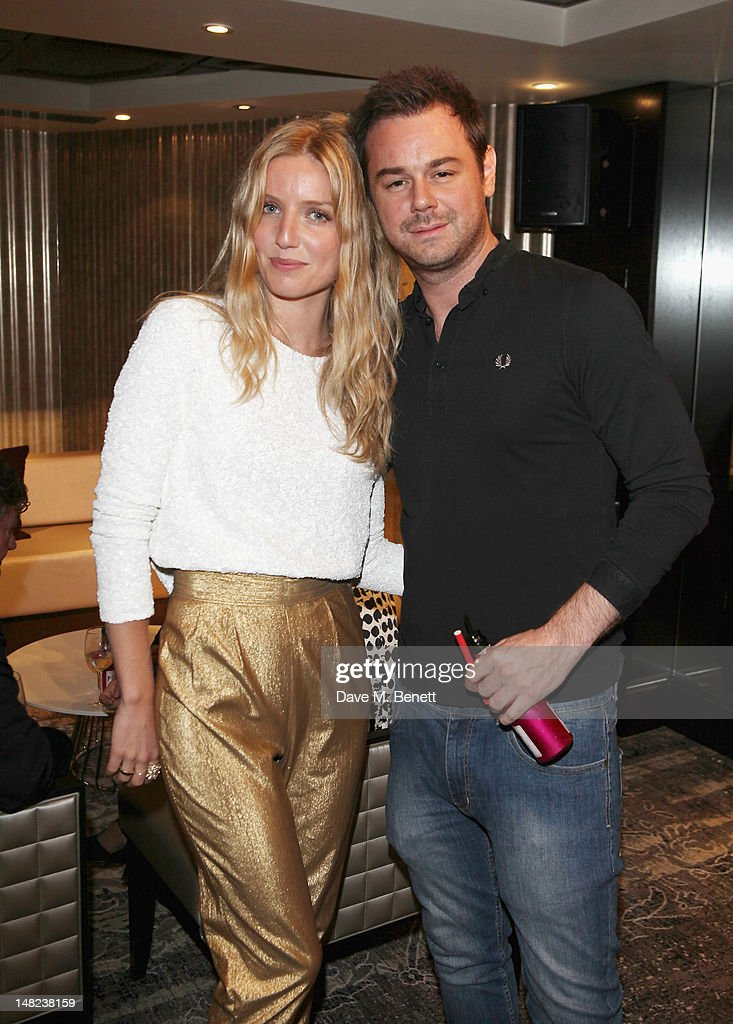 Annabelle Wallis and <a gi-track='captionPersonalityLinkClicked' href=/galleries/search?phrase=Danny+Dyer+-+Actor&family=editorial&specificpeople=15358895 ng-click='$event.stopPropagation()'>Danny Dyer</a> poses at Hippodrome Casino Launch Party, Leicester Square, on July 12, 2012 in London, England.