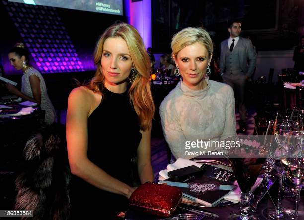 Annabelle Wallis and Emilia Fox attend The WGSN Global Fashion Awards at the Victoria Albert Museum on October 30 2013 in London England