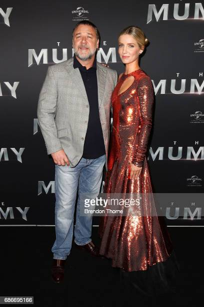 Annabelle Wallis and Russell Crowe arrive ahead of The Mummy Australian Premiere at State Theatre on May 22 2017 in Sydney Australia
