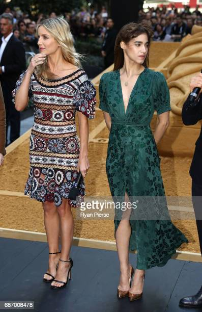 Annabelle Wallis and Sofia Boutella answer questions during a photo call for The Mummy at World Square on May 23 2017 in Sydney Australia