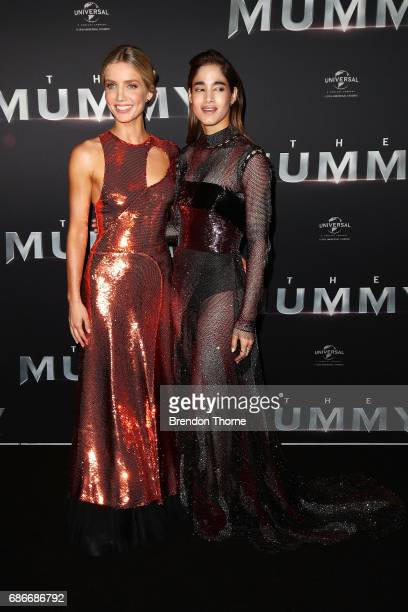 Annabelle Wallis and Sofia Boutella arrive ahead of The Mummy Australian Premiere at State Theatre on May 22 2017 in Sydney Australia