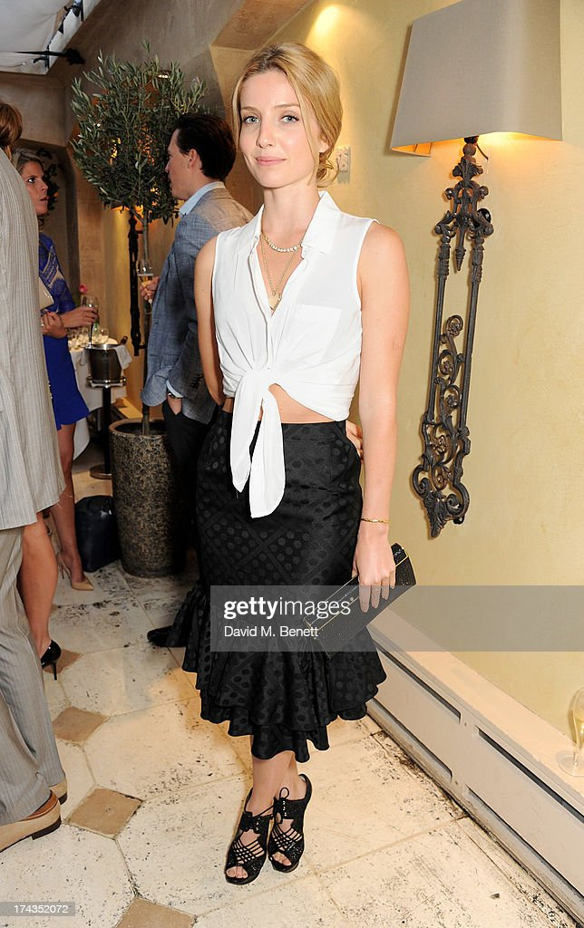 Annabelle Wallis attends an evening of dinner and dancing at Daphne's on July 24, 2013 in London, England.