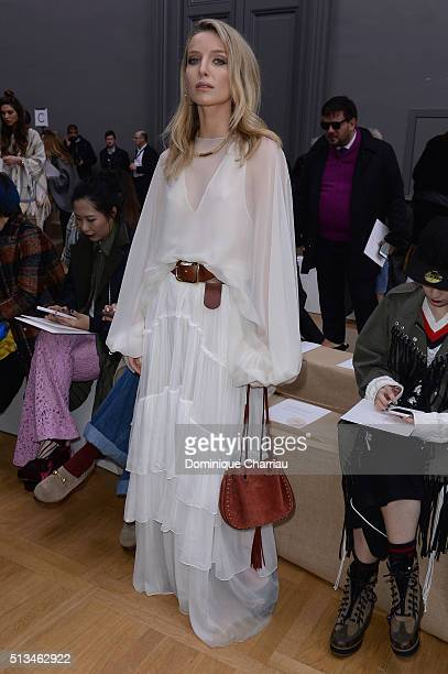 Annabelle Wallis attends the Chloe show as part of the Paris Fashion Week Womenswear Fall/Winter 2016/2017 on March 3 2016 in Paris France