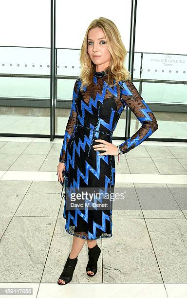Annabelle Wallis attends the Christopher Kane show during London Fashion Week SS16 at Sky Garden on September 21 2015 in London England