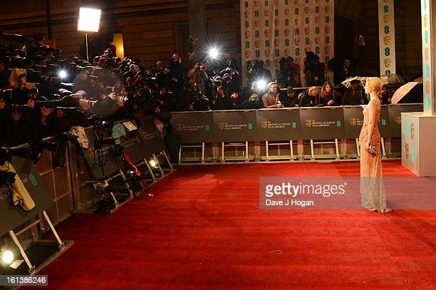 Annabelle Wallis attends The EE British Academy Film Awards 2013 at The Royal Opera House on February 10 2013 in London England