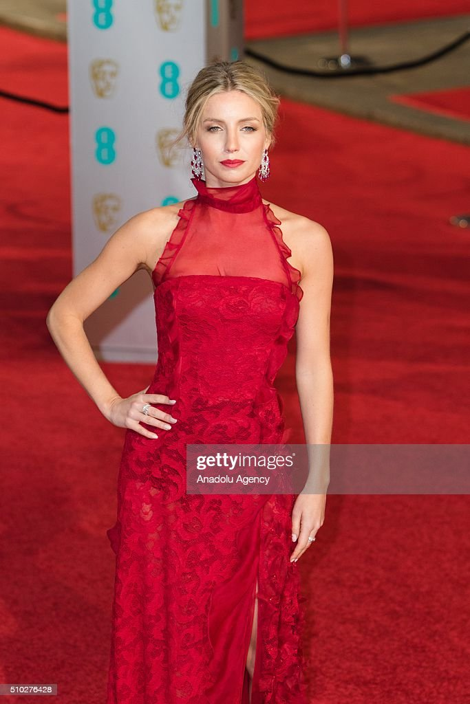 Annabelle Wallis attends the EE British Academy Film Awards at The Royal Opera House on February 14, 2016 in London, England.