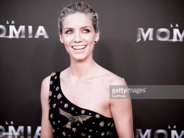 Annabelle Wallis attends 'The Mummy' premiere at Callao Cinema on May 29 2017 in Madrid Spain