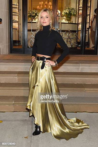 Annabelle Wallis attends the Ralph Lauren fashion show during New York Fashion Week The Shows at Skylight Clarkson Sq on September 14 2016 in New...