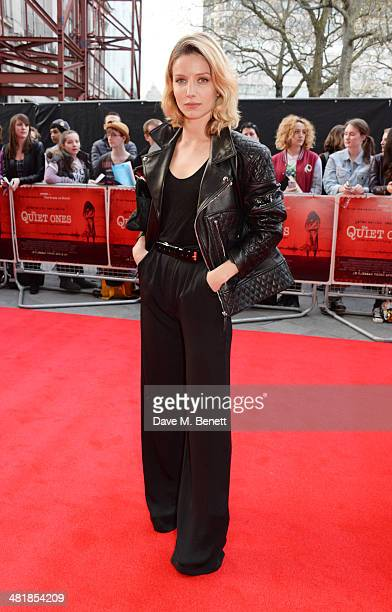 Annabelle Wallis attends the World Premiere of 'The Quiet Ones' at the Odeon West End on April 1 2014 in London England