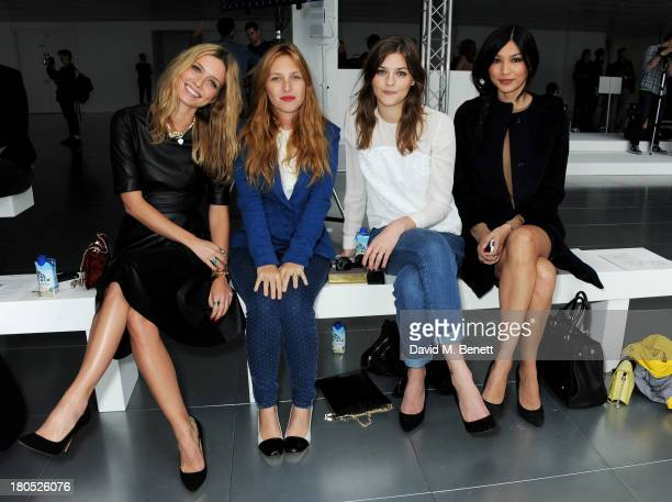 Annabelle Wallis Josephine de la Baume Amber Anderson and Gemma Chan attend the front row at the Whistles show during London Fashion Week SS14 at...