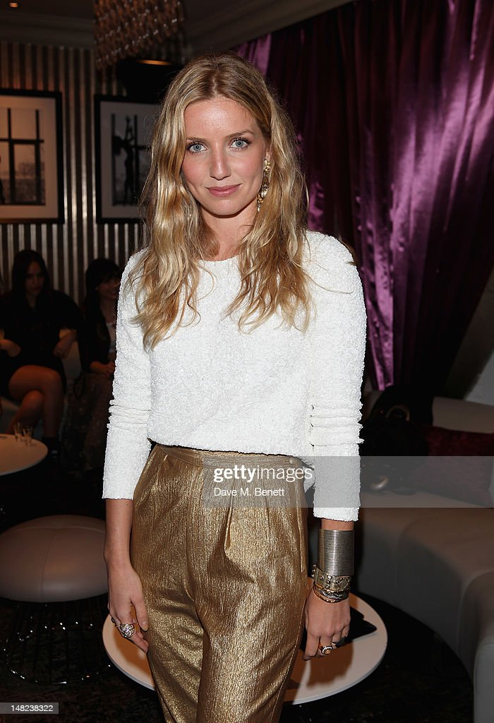 Annabelle Wallis poses at Hippodrome Casino Launch Party, Leicester Square, on July 12, 2012 in London, England.