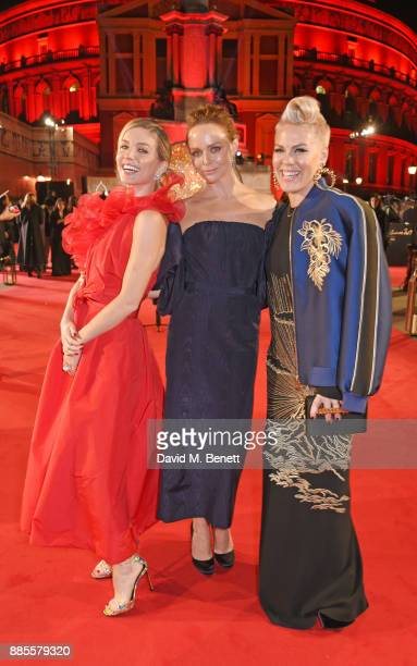 Annabelle Wallis Stella McCartney and Pink attend The Fashion Awards 2017 in partnership with Swarovski at Royal Albert Hall on December 4 2017 in...