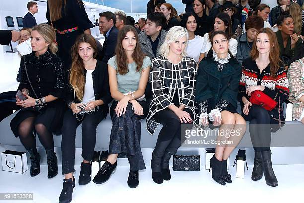 Annabelle Wallis Thylane Blondeau Alma Jodorowsky Cecile Cassel Virginie Ledoyen and Audrey Marnay attend the Chanel show as part of the Paris...