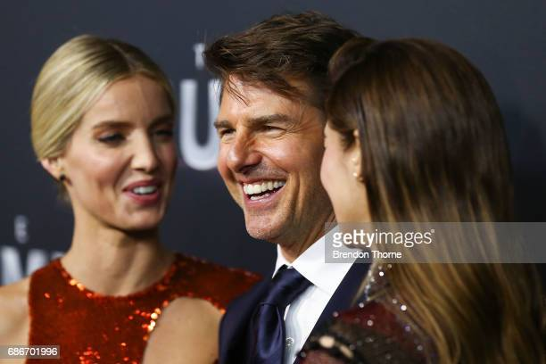 Annabelle Wallis Tom Cruise and Sofia Boutella arrive ahead of The Mummy Australian Premiere at State Theatre on May 22 2017 in Sydney Australia