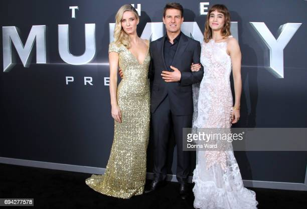 Annabelle Wallis Tom Cruise and Sofia Boutella attend 'The Mummy' Fan Event at AMC Loews Lincoln Square on June 6 2017 in New York City