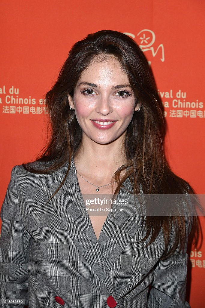 Annabelle Waters Belmondo arrives at the 6th Chinese Film Festival : Cocktail at Hotel Meurice on June 30, 2016 in Paris, France.