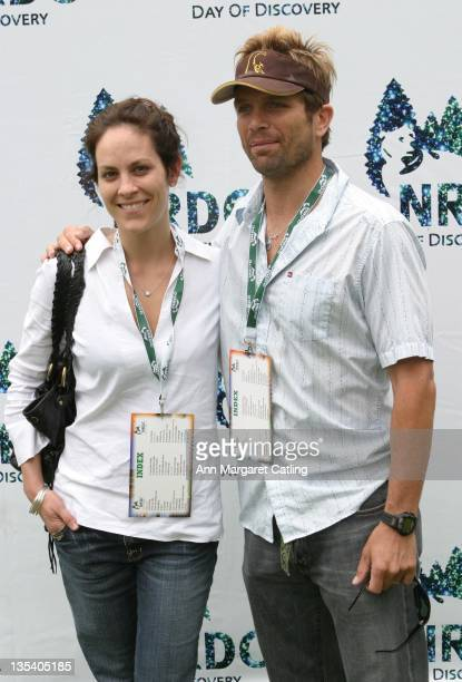 Annabeth Gish and David Chokachi during NRDC's Day of Discovery May 21 2006 at Wadsworth Theater Grounds in Brentwood California United States