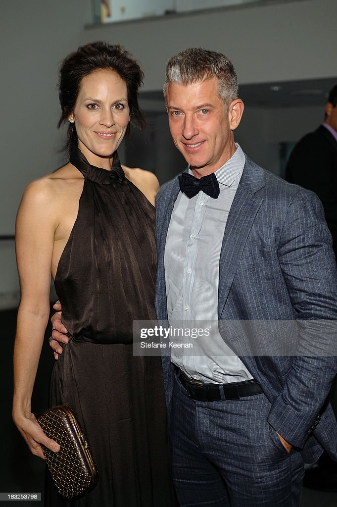 Annabeth Gish and John Mcilwee attend Hammer Museum 11th Annual Gala In The Garden With Generous Support From Bottega Veneta, October 5, 2013, Los Angeles, CA at Hammer Museum on October 5, 2013 in Westwood, California.