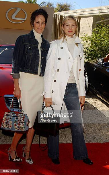 Annabeth Gish and Kelly Rutherford during Step Up Women's Network and Lexus Presents Fashion Forward Featuring The Burberry Prorsum Spring Summer...