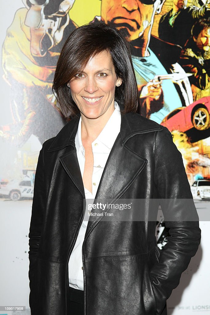 <a gi-track='captionPersonalityLinkClicked' href=/galleries/search?phrase=Annabeth+Gish&family=editorial&specificpeople=549650 ng-click='$event.stopPropagation()'>Annabeth Gish</a> arrives at the Los Angeles premiere of 'The Last Stand' held at Grauman's Chinese Theatre on January 14, 2013 in Hollywood, California.
